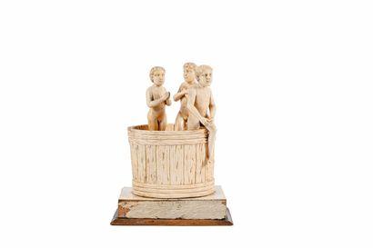 ** Groupe statuaire en ivoire