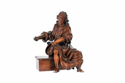Statue de saint en bois sculpté Il pourrait s'agit d'un élément de buffet d'orgue...