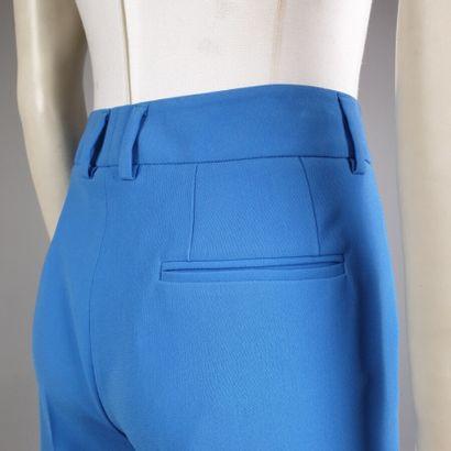 ALBERTO BIANI  Pantalon droit à plis en jersey de triacétate et polyester bleu,...