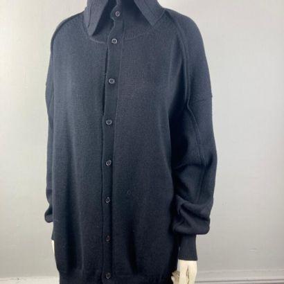 Y'S  Ample cardigan en laine et nylon noir,...