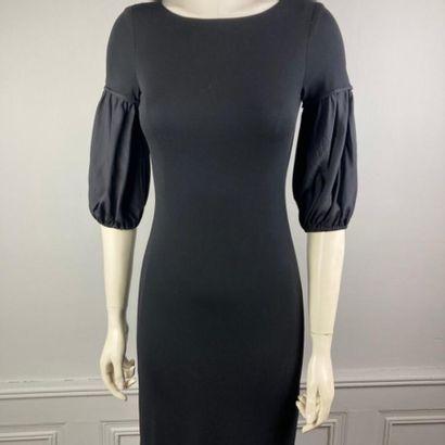 FENDI  Robe courte en jersey rayonne noir,...