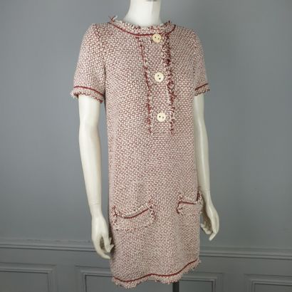 MAISON ULLENS  Robe courte en tweed coton...