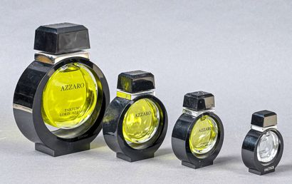PARFUMS LORIS AZZARO  Lot comprenant 4 flacons...