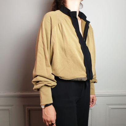 ANN DEMEULEMEESTER  Sweat en coton beige,...