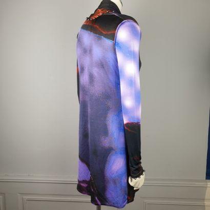 FENDI  Robe en polyamide camaïeu violet,...