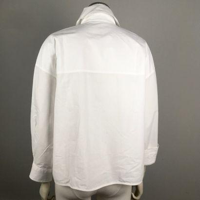 ACNE STUDIOS  Large chemise en coton blanc,...