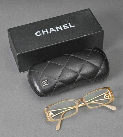 CHANEL  Paire de lunettes de vue de forme...