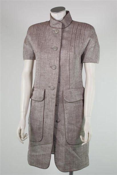 BERGDORF GOODMAN, circa 1985  Robe en tweed...