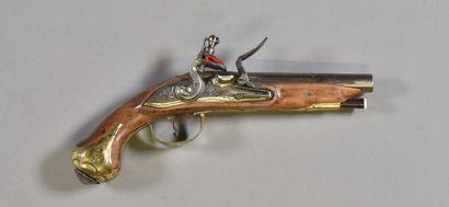 FRANCE  Pistolet de carrosse à silex époque...