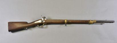 FRANCE  Fusil modèle 1857  Monture bois à...