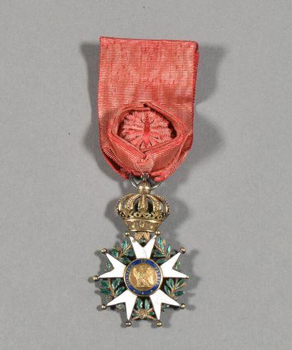FRANCE  Légion d'Honneur Premier Empire modèle hybride  Etoile d'Officier en vermeil...