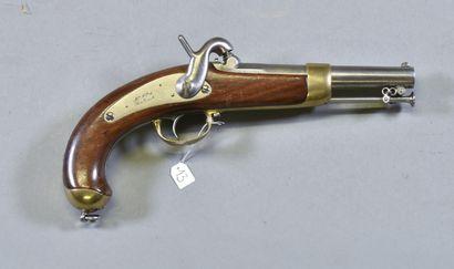 FRANCE  Pistolet de Marine modèle 1849  Monture...