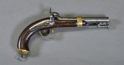 FRANCE  Pistolet modèle 1837 de Marine  Monture...