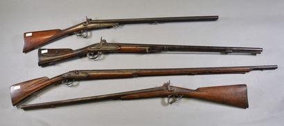 FRANCE  Fusil de chasse à piston  Système...