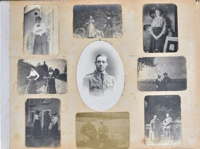 FRANCE  Set of photographs including an album of the family of the pilot Marcel...