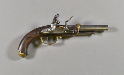 FRANCE  Pistolet de bord modèle 1779  Monture...