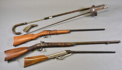 FRANCE  Lot d'épée et armes à feux XIX-XXème,...