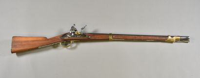 FRANCE  Fusil à silex Restauration type An...