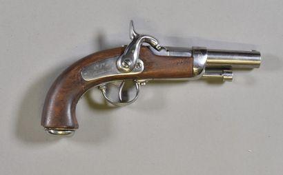 FRANCE  Pistolet à pistons type 1837  Monture...