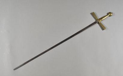 FRANCE  Epée de couvreur maçonnique  Monture...