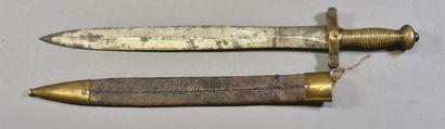 FRANCE  Glaive type 1831  Monture bronze,...