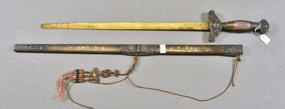 INDOCHINE  Epée d'apparat  Monture bronze...