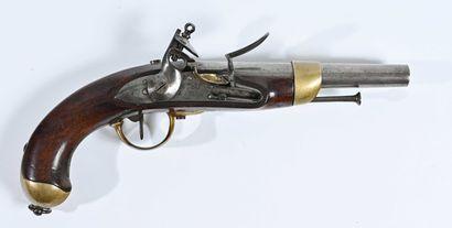 FRANCE  Pistolet à silex modèle 1816  Monture...
