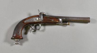 FRANCE  Pistolet à pistons de style 1837...