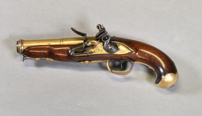 FRANCE  Pistolet de Marine pour gaucher  Monture...