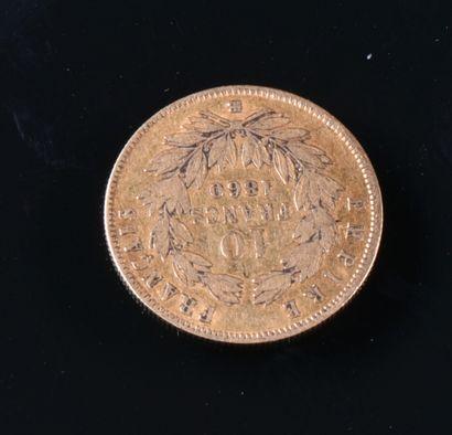 FRANCE  Une pièce de 10 francs or Napoléon...
