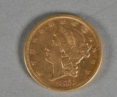 ETATS UNIS  Une pièce de 20 dollars or, Liberty,...