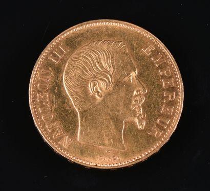 FRANCE  Une pièce de 100F or Napoléon III,...
