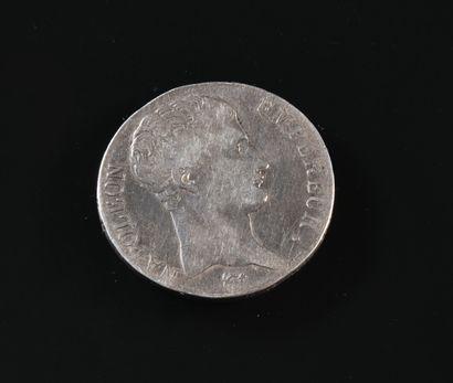 FRANCE  Pièce de 5 francs argent, Napoléon...