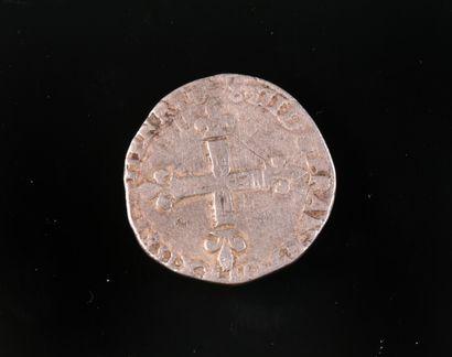 Henri IV, ¼ d'écu argent, 158(?) , Dy 1222...