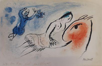 Marc CHAGALL (1887-1985)  Carte de voeux...