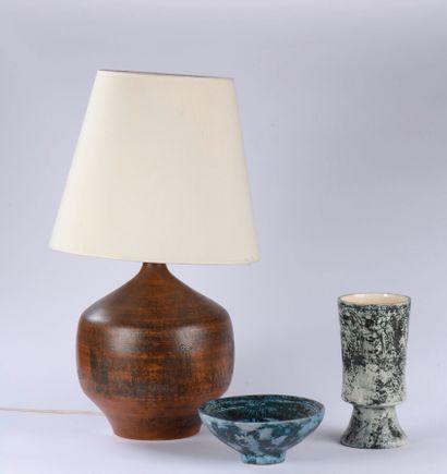 Jacques BLIN (1920-1995)  Lampe à poser  Céramique...