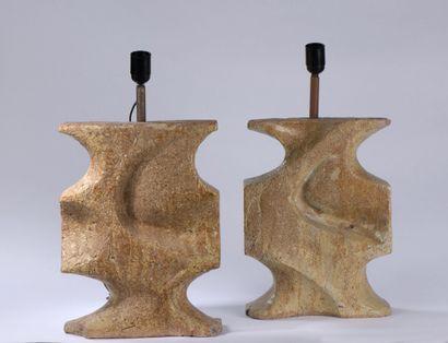 Travail des années 1960  Paire de lampe