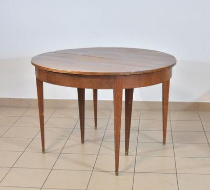 Table ovale de salle à manger en placage...