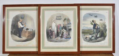 Lot de quatre gravures composé de : portrait...