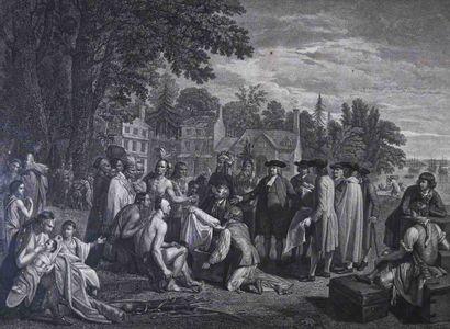 D'après Benjamin I WEST (1738-1820)  Le traité...