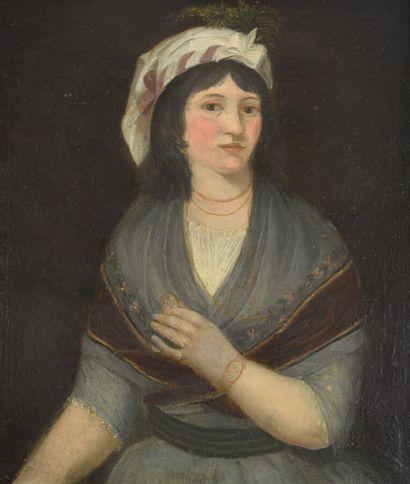Dans le goût du XVIIe siècle  Portrait de...