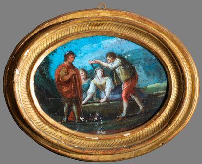 École ITALIENNE du XVIIIe siècle  Personnages...