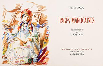 BOSCO (Henri). Pages marocaines. Casablanca,...