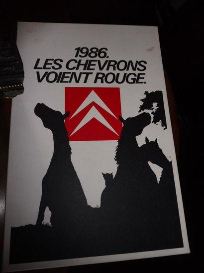 [CITROËN - BANDE DESSINEE]. 1986. Les chevrons...