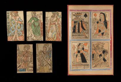 [CARTES A JOUER]. Lot de cartes à jouer anciennes,...