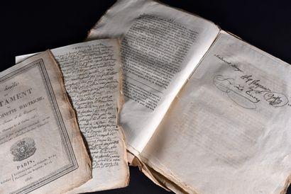 [MORT DE LOUIS XVI]. Fac-similé du testament...
