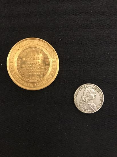 Medaille en or par F. Caqué.  Concours agricole...