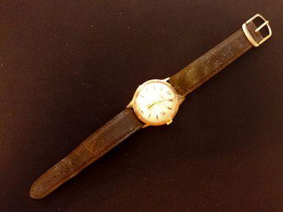 YANIK, montre d'homme en or jaune et bracelet...