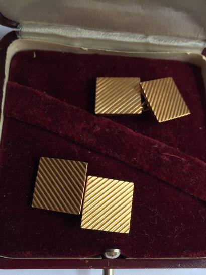 Une paire de BOUTON de MANCHETTE en or 750...