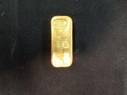 Lingot en or jaune 995°/°°  Numéroté 503502....